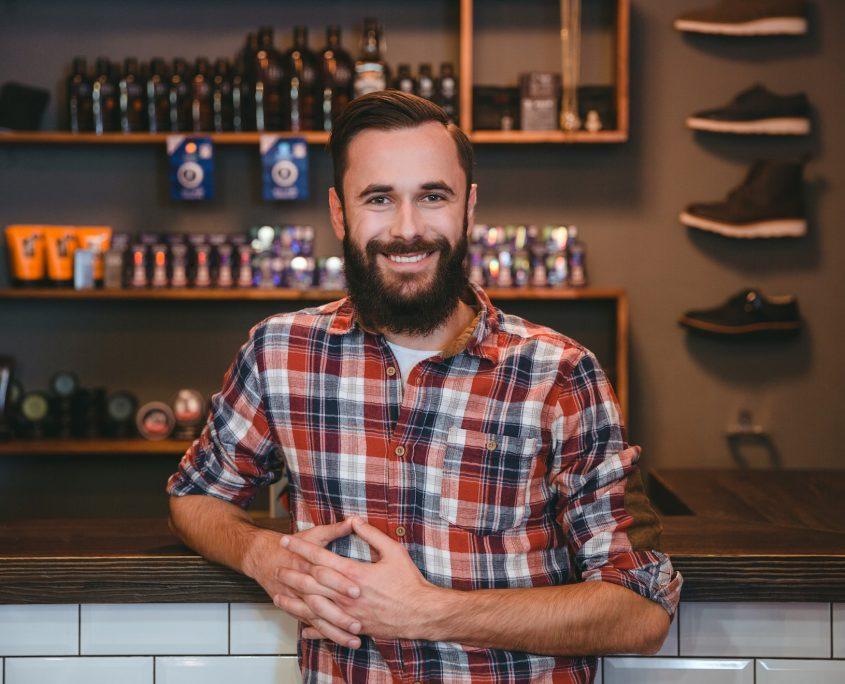 Joyful smiling bearded man O2dental Vancouver