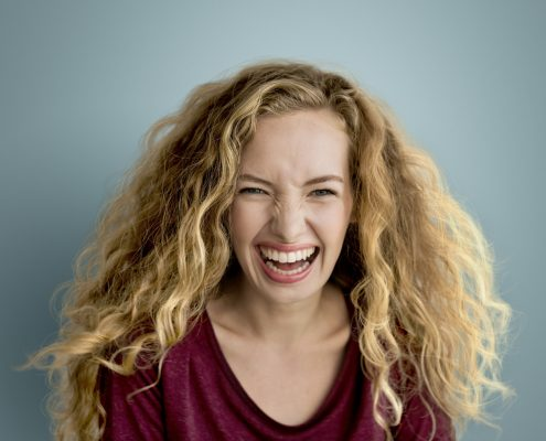 woman smiling teeth white O2Dental Dentist Vancouver
